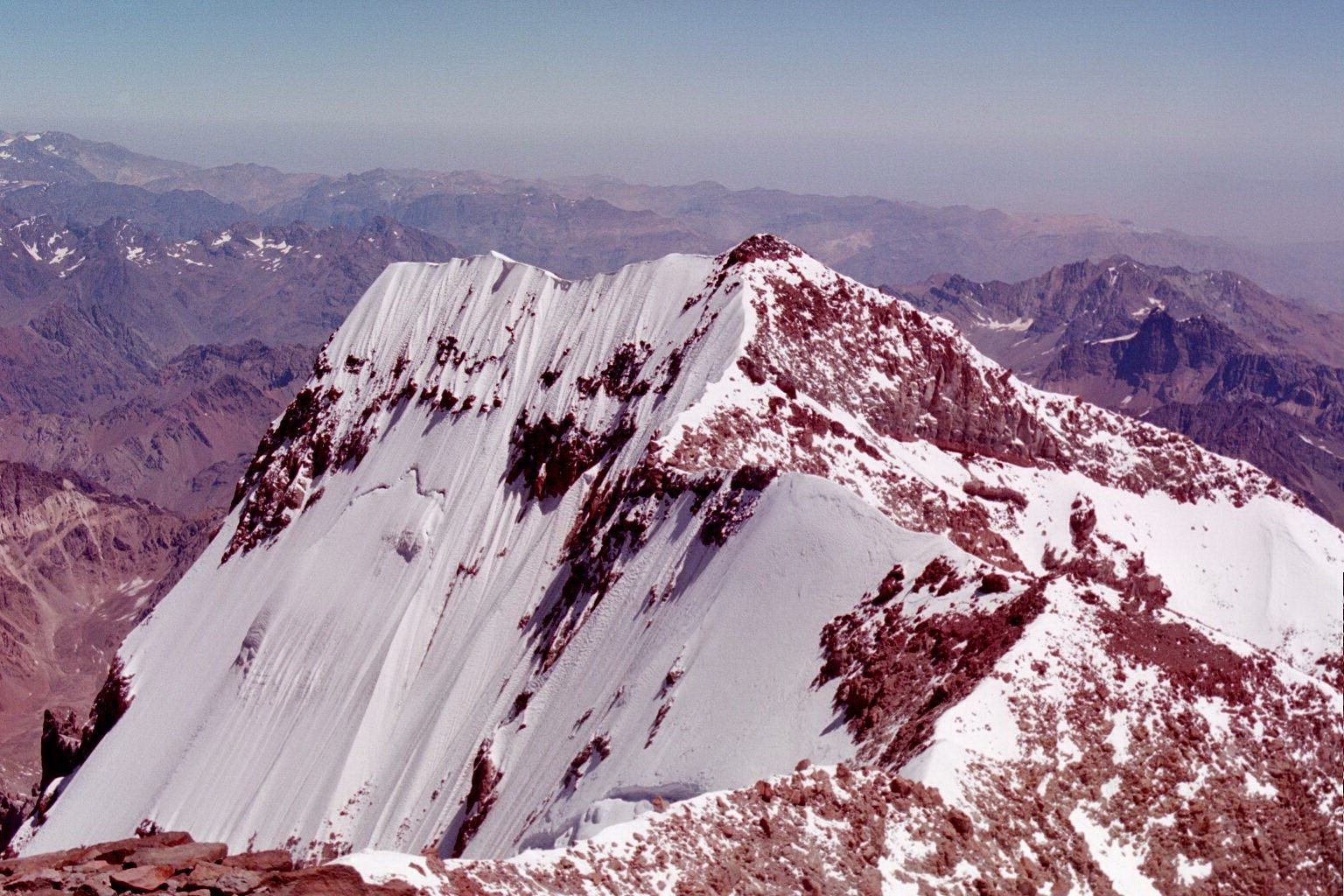 Aconcagua South Face from the summit
