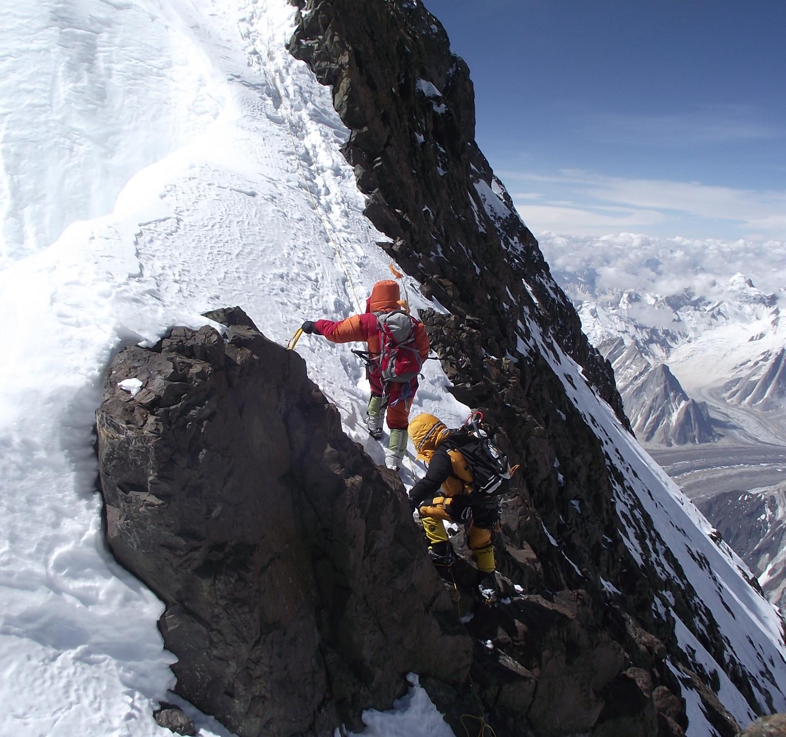 The long edge towards the summit.