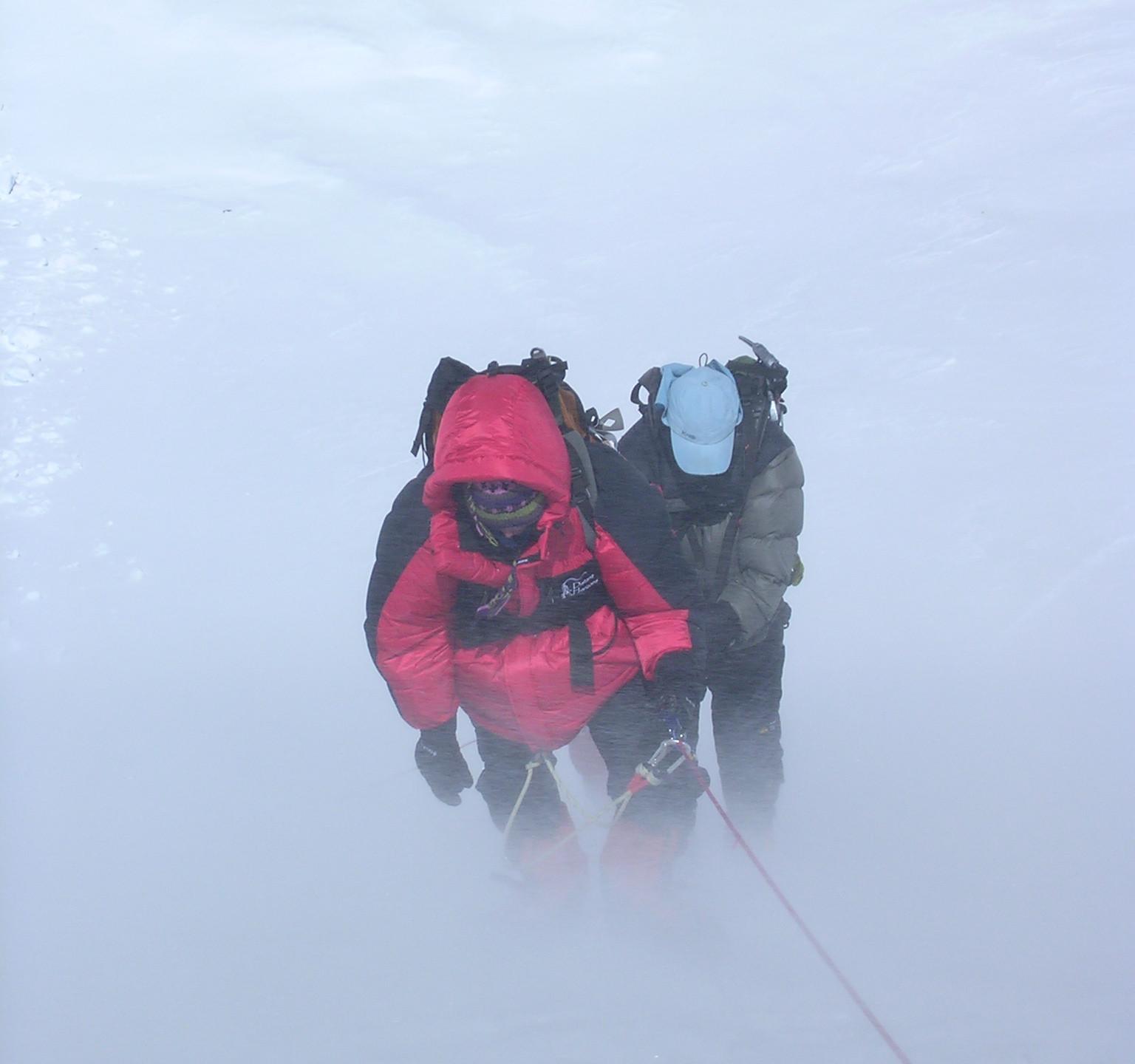 Climbing the Lhotse face