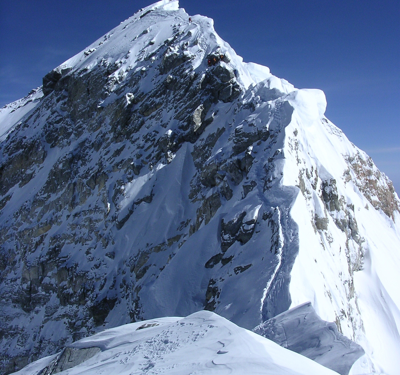 Hillary step and summit