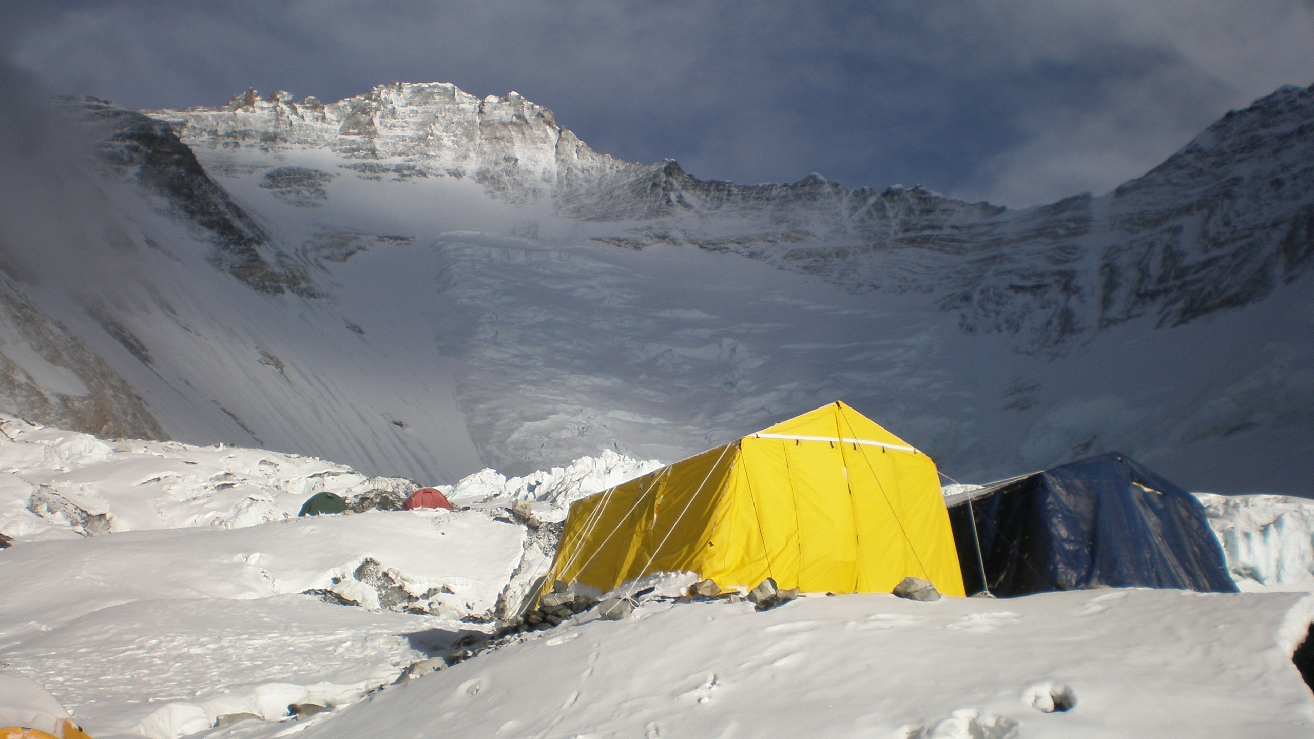 Lhotse face and camp 2