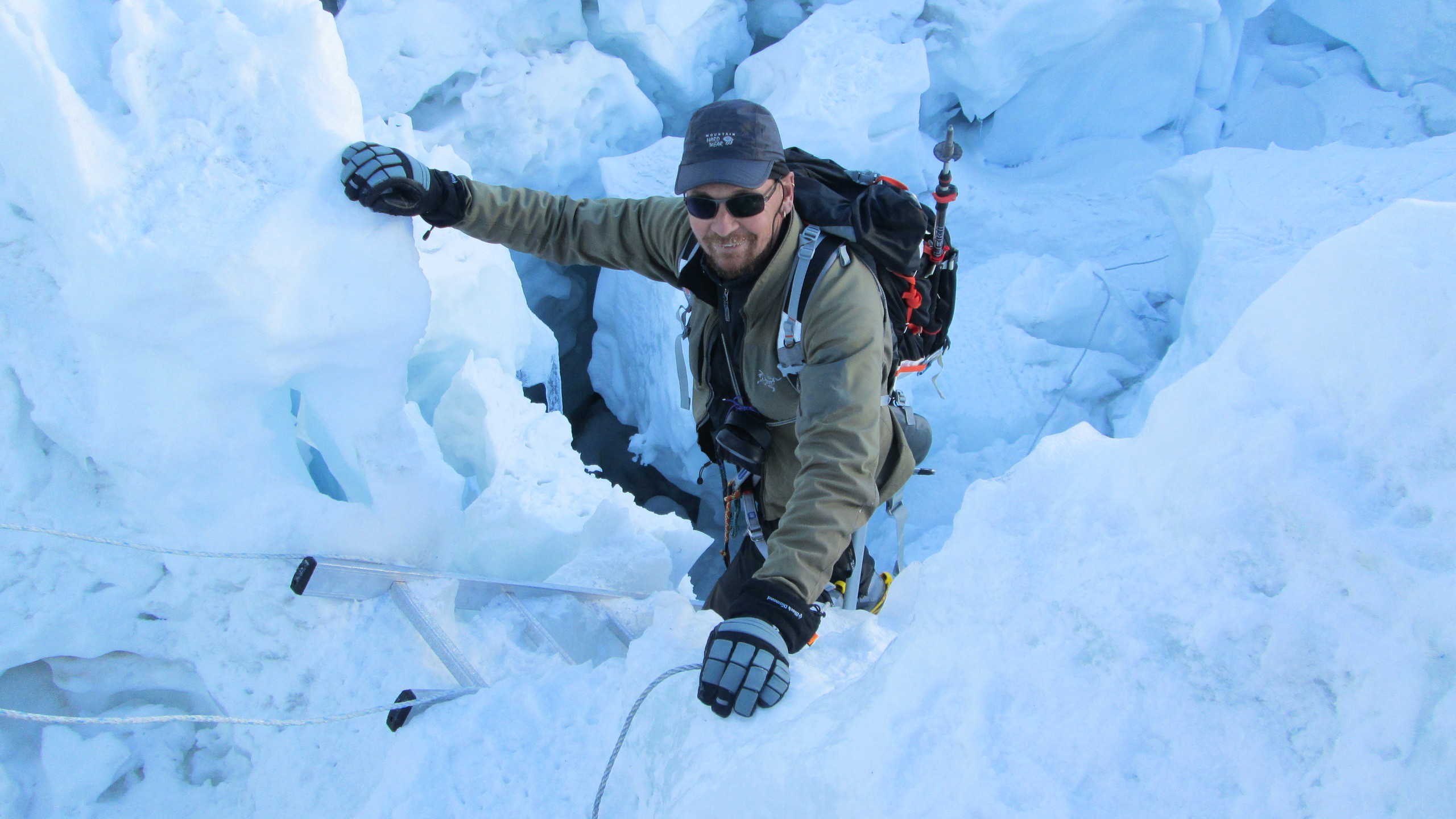 Mel in the Khumbu Icefall