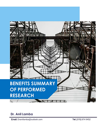 Benefit Summary of Performed Research