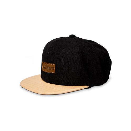 Gorra negra / Maple del  Pacífico - Piel