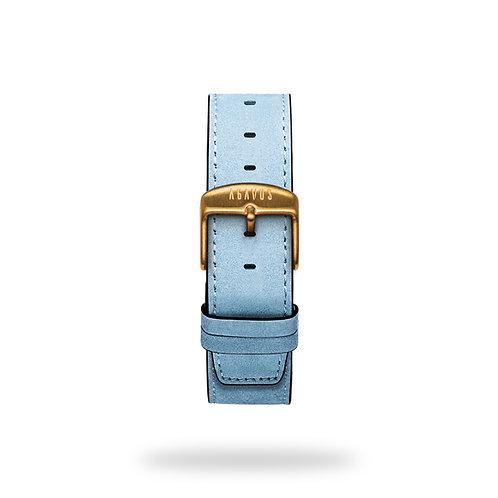 Leather strap - Blue Careyes