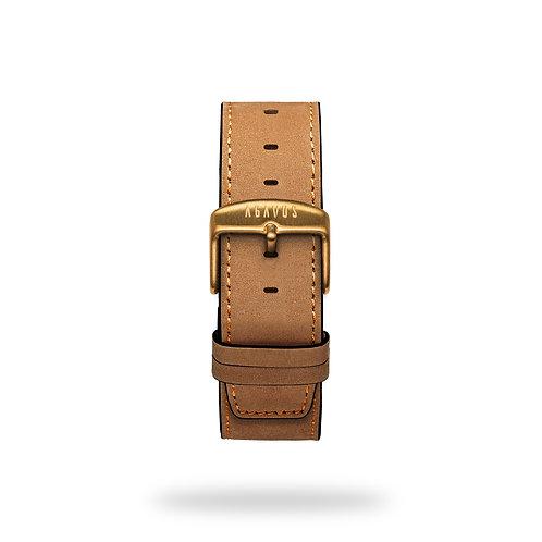Camel leather strap
