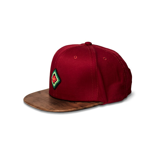 Gorra rojo / Nogal Americano - Wixárika