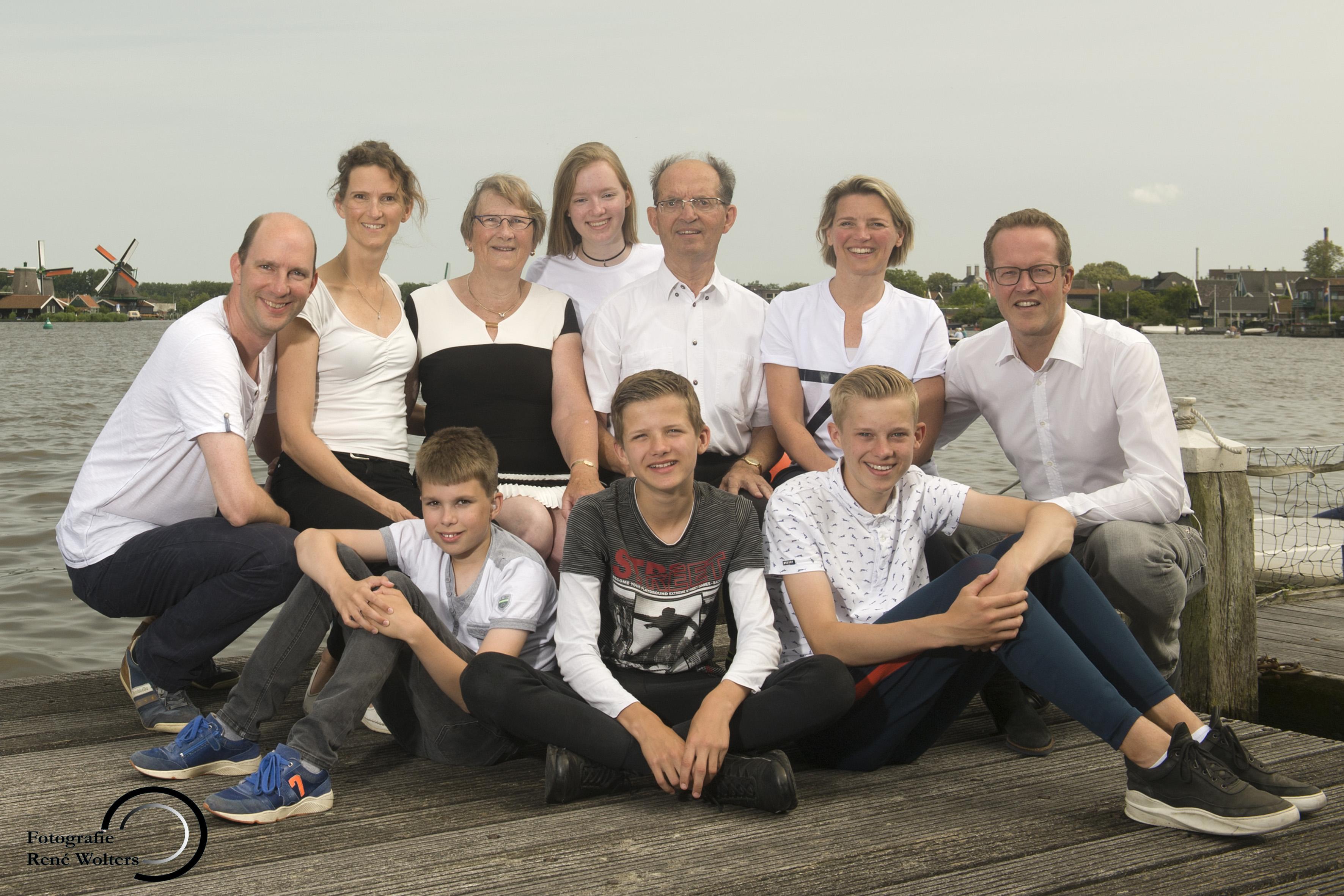 Familie op locatie