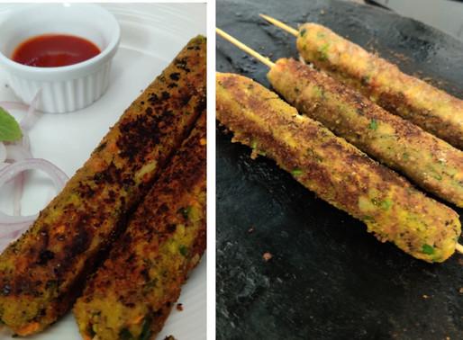 Vegetable Seekh Kabab: