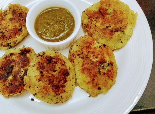 Stuffed Sweet Potato Falhari Tikki