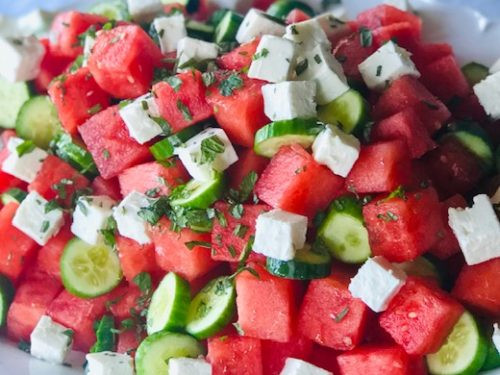 Watermelon Feta salad: