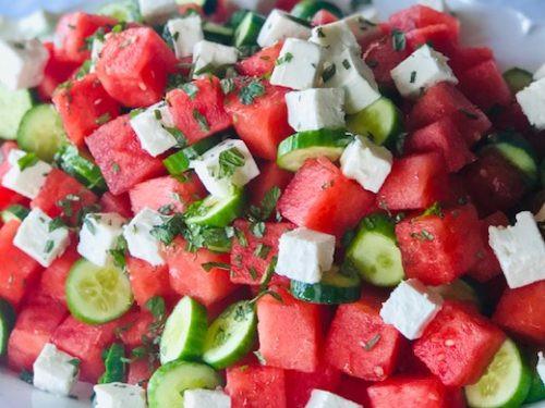 Watermelon Feta salad: