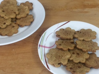 Whole wheat Egg less Ginger Basil cookies