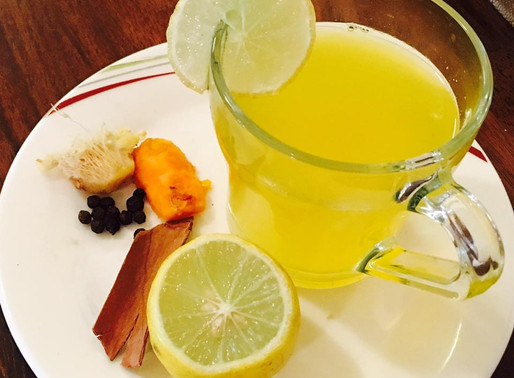 Lemon ginger turmeric detox tea
