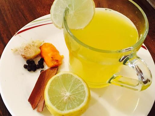 Lemon ginger turmeric detox tea
