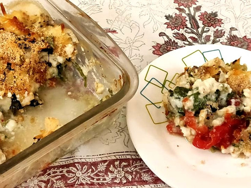 Tomato Spinach bake