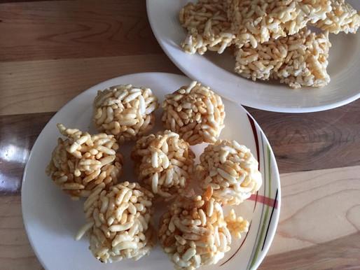 Puffed Rice Bar and Laddoo-