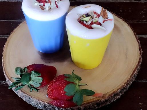 Rose Strawberry Milk Shake