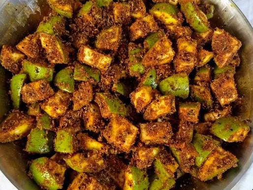 Aam Ka Sukha Achar[Dry Mango Pickle]:
