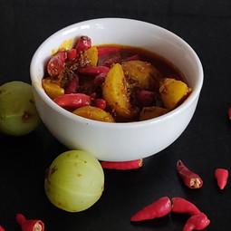Instant Amla Chili Pickle: