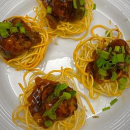 Noodles Munchurian Nest: