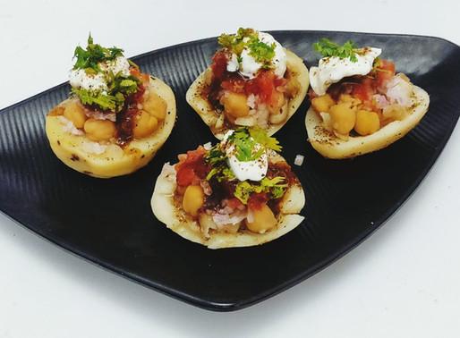 Chickpea-Loaded Potatoes