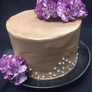 Chocolate Buttercream with Pearls