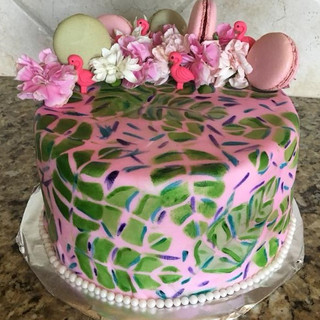 Lilly Pulitzer Print Cake