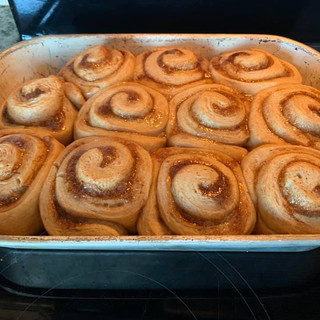 Cinnamon Buns before Cream Cheese Frosting