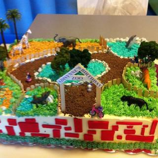 Birthday Zoo Sheet Cake