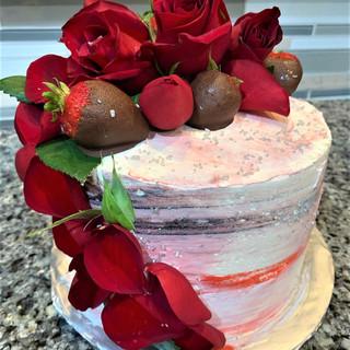 Valentine Roses & strawberries