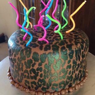 Snazzy Leopard Cake