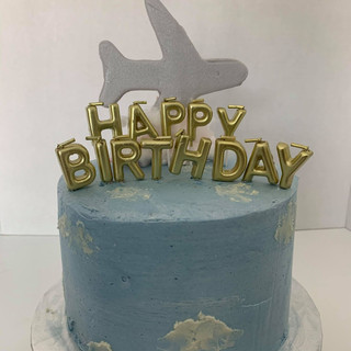 Blue Yonder Airplane Cake