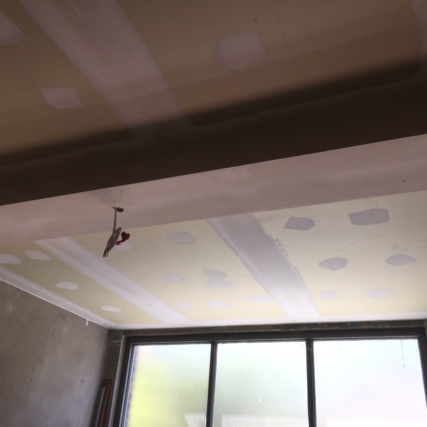 Finished set acoustic ceiling