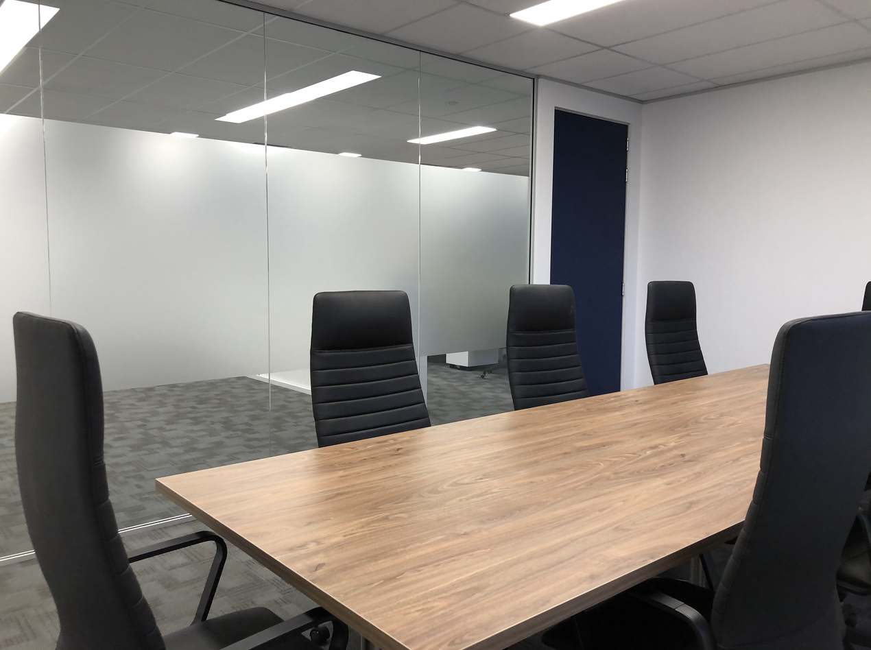 Office Boardroom table with high back chairs