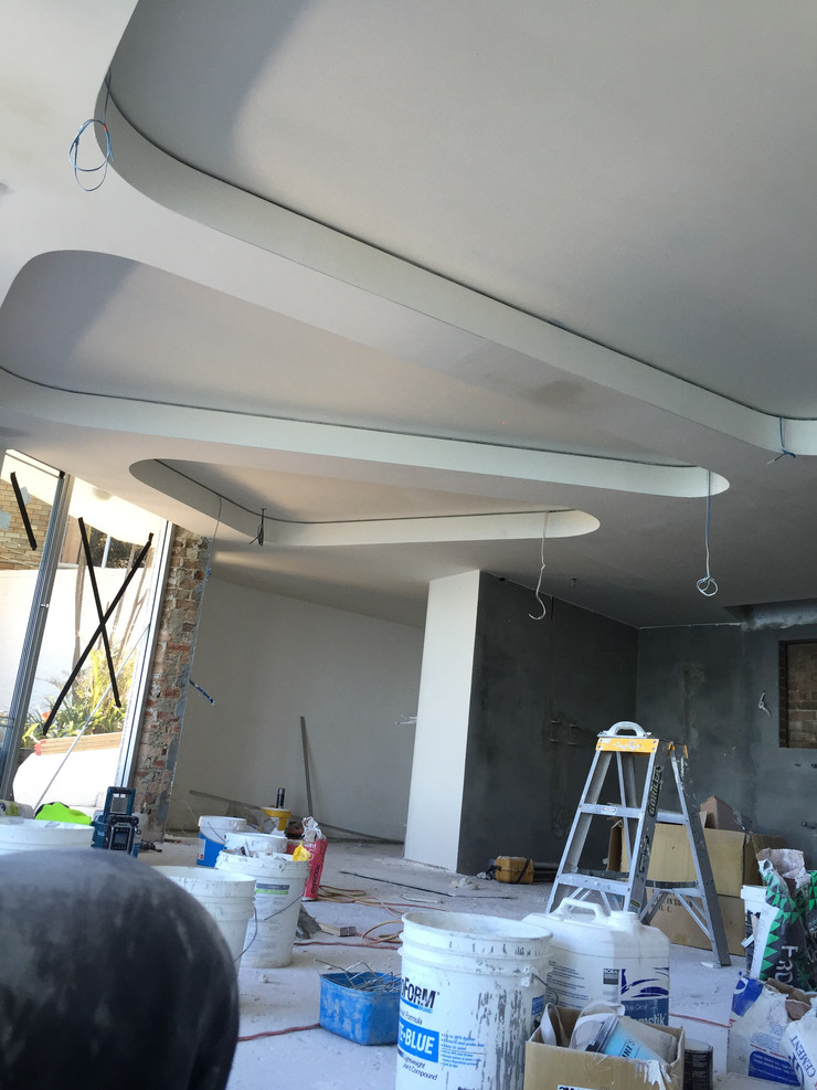 Suspended Ceiling with Curved Plasterboard