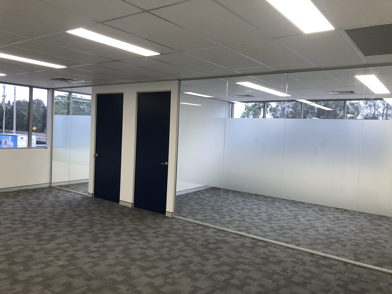 Install Handles and Finishing touches to Office partitions