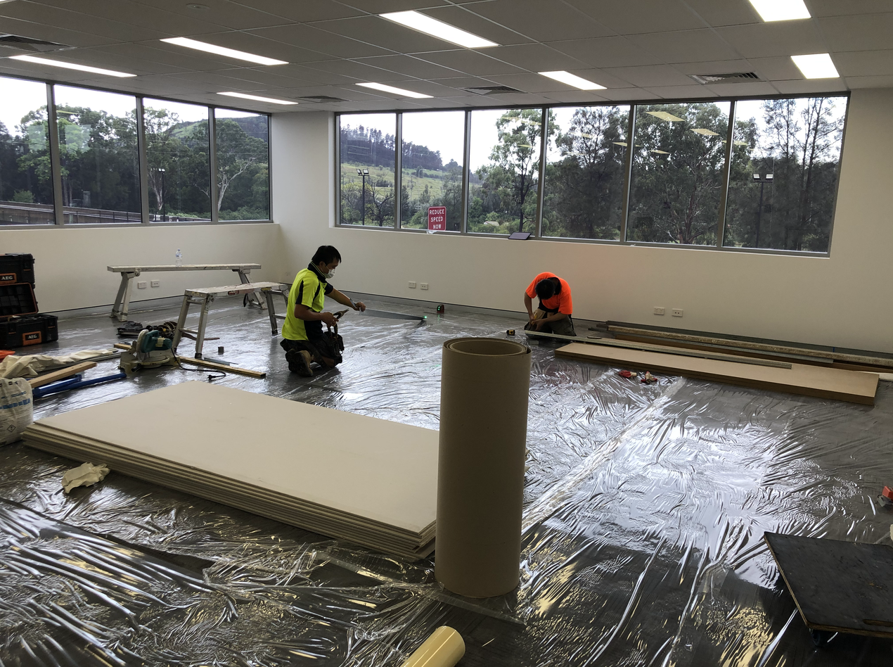 Floor Protection and Devlivery of materails for an office fit out in sydney