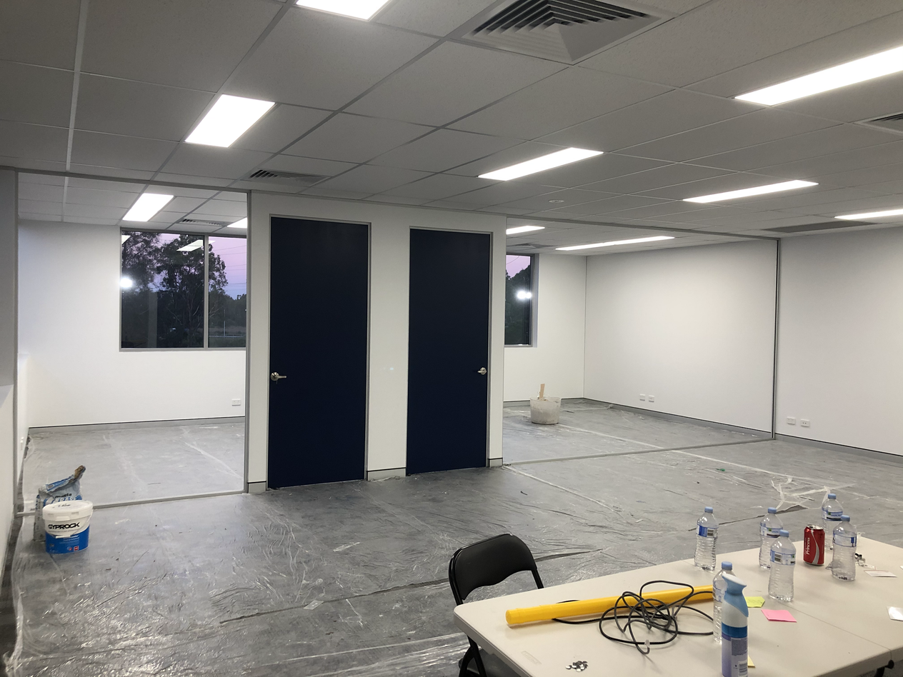 Doors and Partitions Painted
