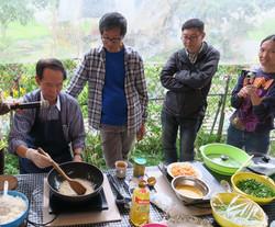李棠師傅示範田園菜餚