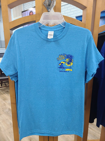 T-Shirt (Life's a Beachy-Cocoa Beach/Light Blue - Front)