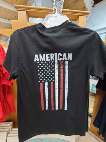 T-Shirt (American/Black - Back)