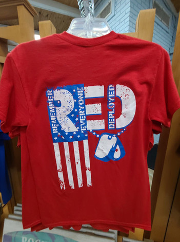 T-Shirt (Remember Everyone Deployed/Red - Back)
