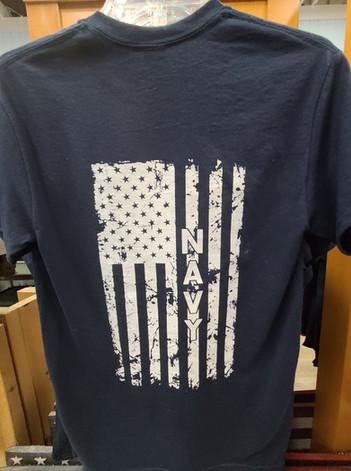 T-Shirt (Navy/Gray - Back)