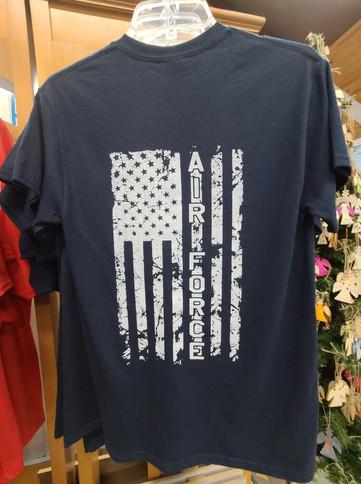 T-Shirt (Air Force/Gray - Back)