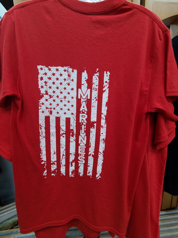 T-Shirt (Marines/Red - Back)