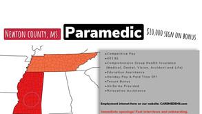 Paramedic sign on bonus opportunity