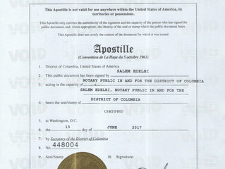 EDUCATION CERTIFICATE VERIFICATION (APOSTILLE)