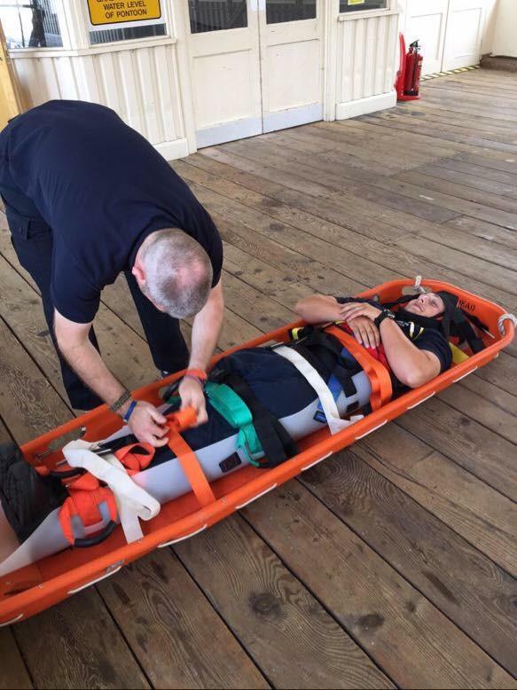 Saviour Tactical in basket stretcher