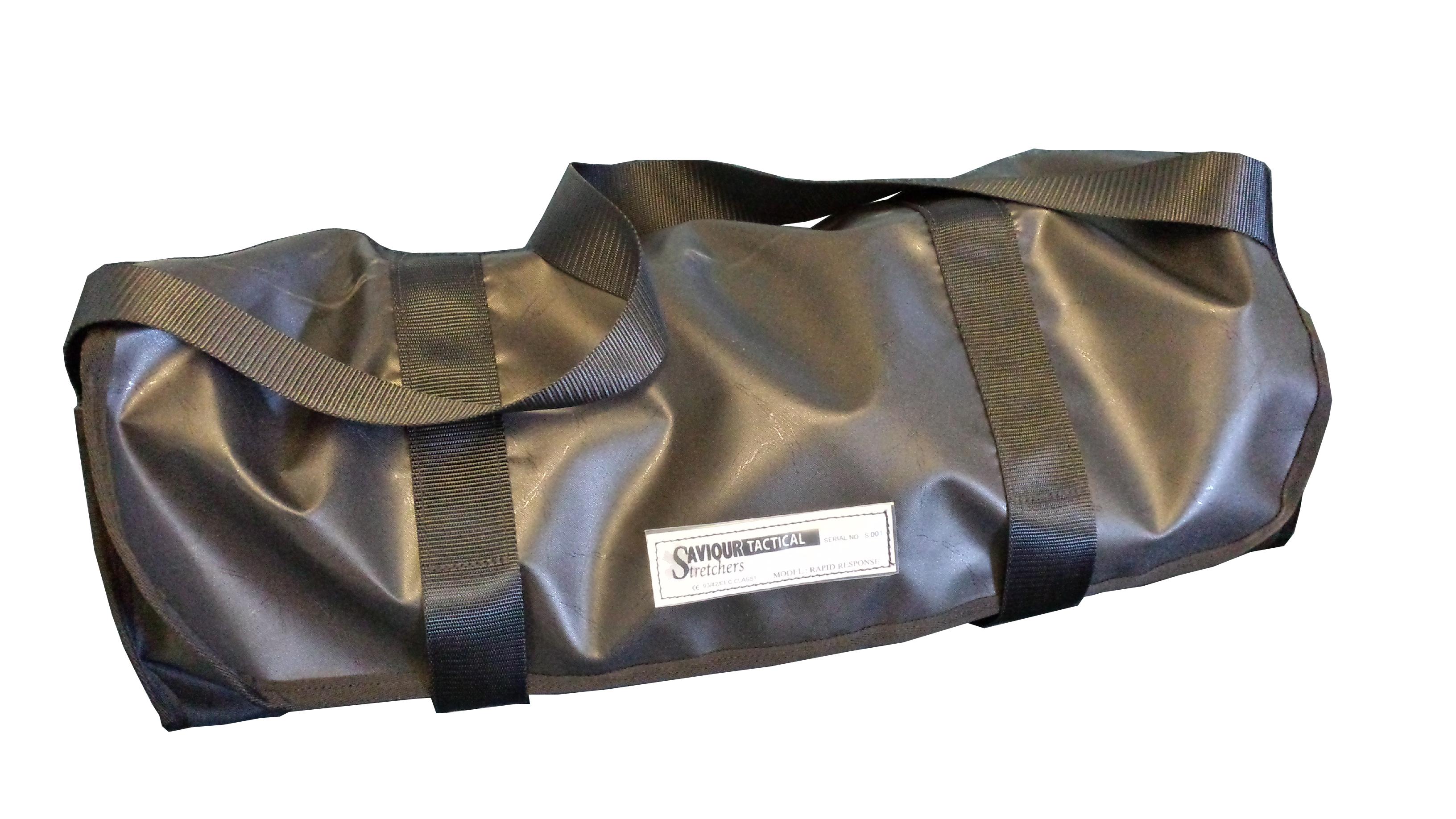 Black roll top shoulder bag